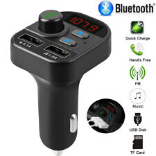 Bluetooth 5.0 Fm Transmitter Handsfree Car Kit Mp3 Music Player Dual Usb Charger