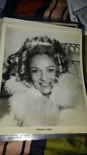 Barbara Werle Vintage Rare photo collection: Movie Star Nice 8x10 B&W  Press