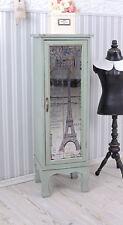 Colonne D'armoire Shabby Chic Armoire Paris Vitrine Tour Eiffel Étagère Verre