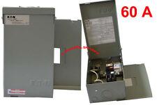 Spa & hot tub Eaton load center panel + 60A GFCI breaker double poles 120/240V