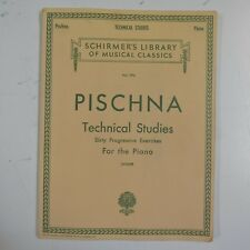 piano PISCHNA technical studies , 60 exercises