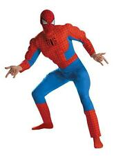 Deluxe Spiderman Superhero Adult Muscle Halloween Fancy Costume Outfit