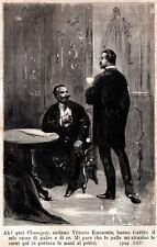 1867.Vittorio Emanuele, Gioacchino Napoleone Pepoli, nuovi fucili Chassepot.1885