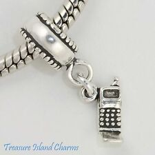 CELL PHONE .925 Solid Sterling Silver Dangle EUROPEAN EURO Dangle Bead Charm
