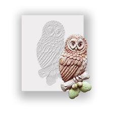 Silicona Molde-Tawny Owl-Plana respaldado Mini Escultura-alimentos seguros