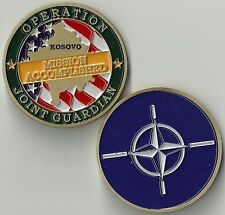 Operation JOINT GUARDIAN NATO Kosovo Challenge Coin