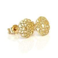 9ct Gold 7mm Round Celtic Knot Stud Earrings / Irish / Studs / Earring