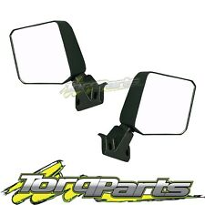 MIRRORS PAIR MANUAL BLACK SUIT TOYOTA LANDCRUISER 76 SERIES 07-17 WAGON VDJ