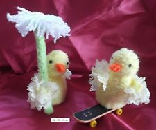 Sue Farrar KNITTING PATTERN- Eyelet Lace Easter Chick for Woolcraft Sweet Dreams