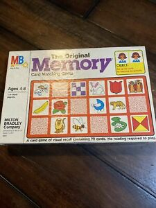Milton Bradley The Original Memory Game Vintage 1980 Complete