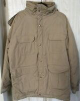 Lightly Used Made In USA Vintage 70s 80s Woolrich Tan Parka Jacket Size Large