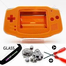 Funda Naranja & Limpiador Cristales Nintendo Game Boy Advance GBA Carcasa/