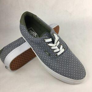 VANS. Era 59. Chambray Dots. Green / Grey Shoe. Mens US Size 13
