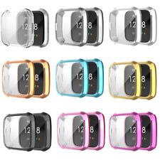 TPU Screen Protector Frame Cover for Fitbit Versa Lite Watch Bumper Shell Case