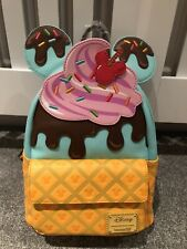 More details for loungefly disney mickey and minnie sweets ice cream mini backpack