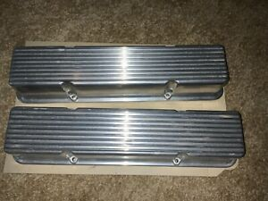 VINTAGE CHEVROLET MICKEY THOMPSON FINNED ALUMINUM VALVE COVERS PART # 3376001