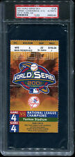 2001 World Series GM 4 Ticket New York Yankees Derek Jeter Mr November PSA