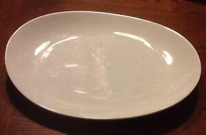 Oblong Serving Platter - Crate & Barrel Porcelain Dinnerware