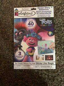Colorforms Trolls World Tour Sticker Story Adventure - Over 40 Colorforms! -NEW!