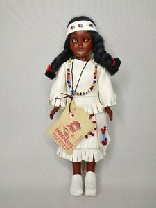Vintage Cherokee Native American Doll Made by The Cherokees Qualla Reservation