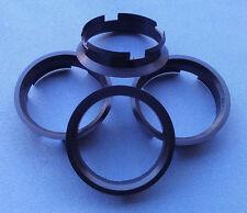 (Z01D) 4 Stück  Zentrierringe 63,4 / 60,1 mm schwarz für Alufelgen