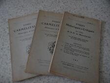 1911.Etudes carmélitaines 1ère année..