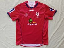 Queensland Reds Official Super 15 Rugby Union BLK Supporter Gear Jersey Size 16