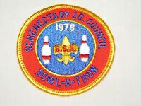 VINTAGE BSA BOY SCOUTS OF AMERICA  1978 SCHENECTADY BOWL-A-THON CLOTH PATCH