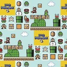 Nintendo Super Mario Brothers 3 scene 100% Cotton fabric by the yard