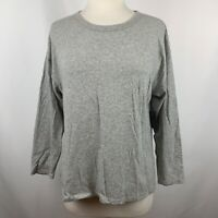 NWT Hudson Jeans Women's 3/4 Sleeve T-Shirt Grey Pullover Top Size Small