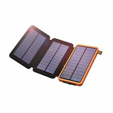 Solar Charger X-DRAGON 10000mAh Solar Power Bank with Foldable Solar Panel Po...
