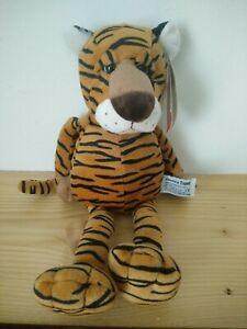 Russ Standard Tiger Teddy Toy With Tags Great Gift Vintage