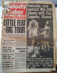 Melody Maker May 1st '76 - Led Zeppelin David Bowie Mott The Hoople Thin Lizzy