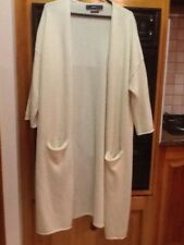 ladies white Zara cashmere long cardigan size M