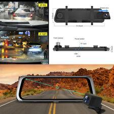 Espejo de coche DVR de doble lente grabadores de vídeo Pantalla Táctil Cámara 1080P completo de la noche