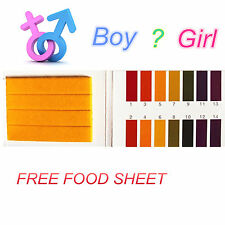 Baby Gender Boy / Girl 80 Strips PH Test Ovulation Pregnancy FREE food sheet