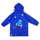 Children Waterproof Outwear Hooded Rainwear Poncho Zipper Lighweight Rain Coat T