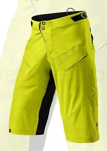 Specialized Men's Cycling Demo Pro Shorts Hyper Green / Black - Small