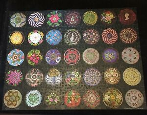 1980 Jigsaw Puzzle PAPERWEIGHTS Corning Glass Museum 600 Pieces COMPLETE