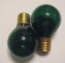 2 Transparent Green Marquee/Sign/Amusement Park/Party/Patio Light Bulbs E17 Base