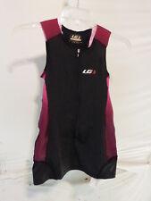 Louis Garneau Women's Pro Carbon Sleeveless Triathlon Top Small Black/Candy Purp