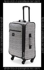 Victorias Secret Pink Suitcase Luggage Wheelie Spinner Gray Grey Marl Marled