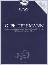 Concerto for Viola, Strings and Basso Continuo Twv 51 : G 9 G Major - Livre et P