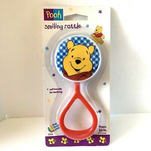 Vtg 1995 Winnie the Pooh Bear First Years Baby Rattle Toy Disney 90s NOS