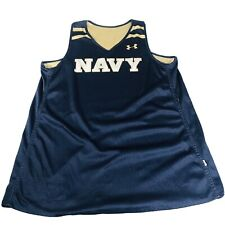 UA Under Armour Navy Basketball Reversible Jersey L Large Navy