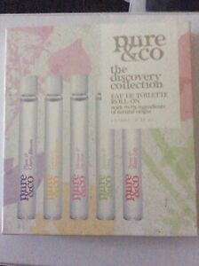 BN SEALED PURE & CO DISCOVERY COLLECTION 5x10ml EDT ROLL ON NATURAL ORIGIN VEGAN