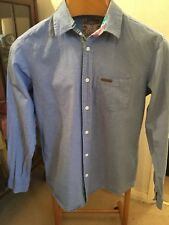 TOKYO LAUNDRY MENS DENIM SHIRT. SMALL. BLUE. 100% COTTON. VGC
