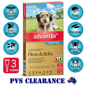 Advantix Aqua 3 for Medium Dogs 4 - 10 kg - 3-Pack - Flea, Lice & Tick Bayer