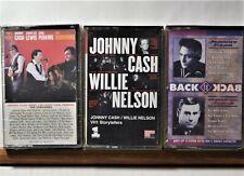 Cassette Lot X3 Johnny Cash & Willie Nelson VH1 George Jones Hits Jerry Lee Carl