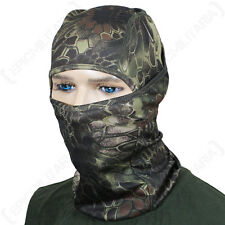 MANDRA Woodland Camo Pasamontañas ligero transpirable Táctica Militar Ejército